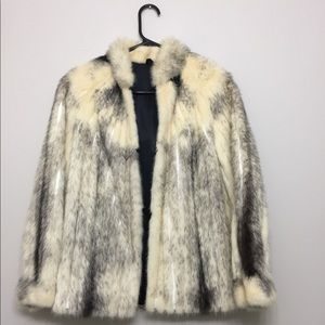 Vintage arctic fox fur jacket